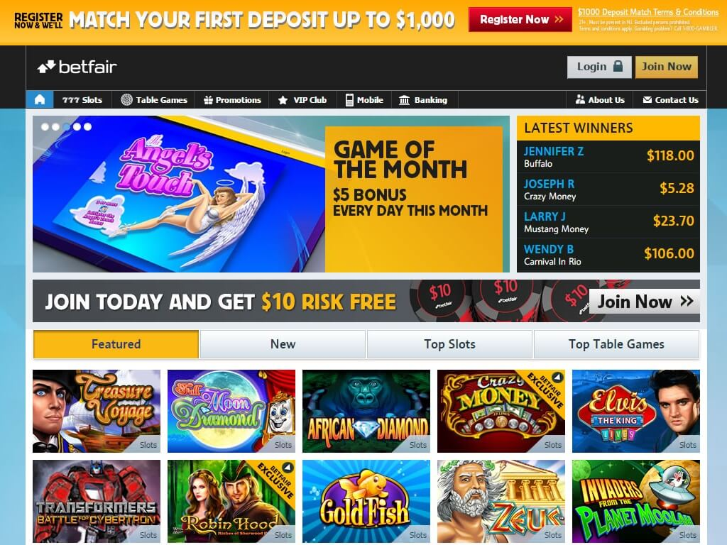 ¿Es legal el casino online de Betfair en Nueva Jersey?